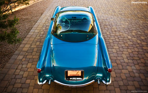 1954 Chevrolet Corvette Bubbletop Wallpaper