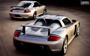 Porsche Carrera GT and 911 GT2 Wallpaper